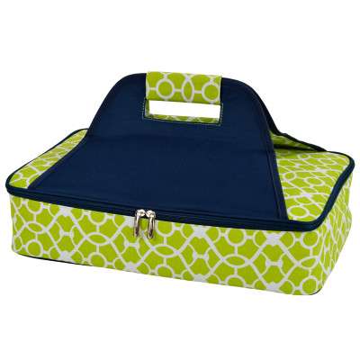 Thermal Food Carrier - Trellis Green image 1