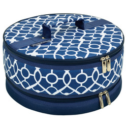 Cake Carrier - Trellis Blue image 1