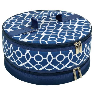 Cake Carrier - Trellis Blue image 1