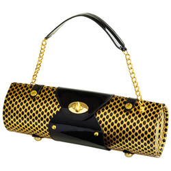 Wine Carrier & Purse - Gold/Black image 1
