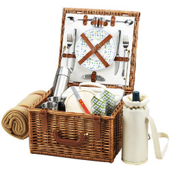 Cheshire Basket for 2 w/coffee set & blanket - Gazebo image 1