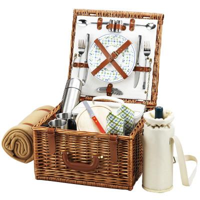 Cheshire Basket for 2 w/coffee set & blanket - Gazebo image 1