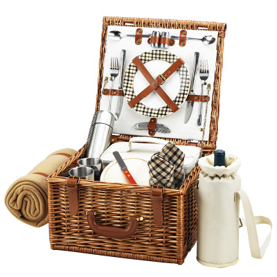 Cheshire Basket for 2 w/coffee set & blanket - London image 1