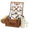 Cheshire Basket for 2 w/coffee set & blanket - Santa Cruz image 1