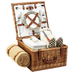 Cheshire Picnic Basket for Two with Blanket - London image 1