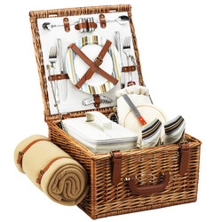 Cheshire Picnic Basket forTwo with Blanket - Santa Cruz image 1