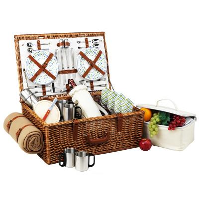 Dorset Basket for 4 w/coffee set & blanket - Gazebo image 1
