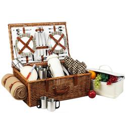 Dorset Basket for 4 w/coffee set & blanket - London image 1