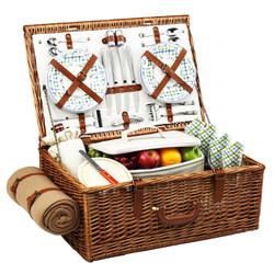 Dorset Picnic Basket for Four with Blanket - Gazebo image 1