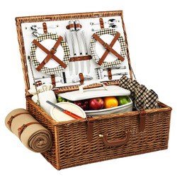 Dorset Picnic Basket for Four with Blanket - London image 1