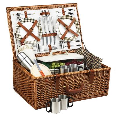 Dorset Basket for 4 w/coffee service - London image 1