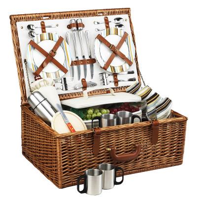 Dorset Basket for 4 w/coffee service - Santa Cruz image 1