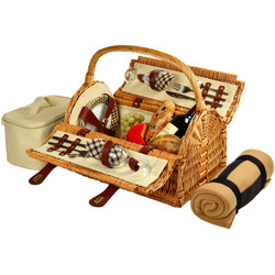 Sussex Picnic Basket for Two with Blanket - London image 1