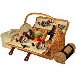Yorkshire Picnic Basket for Four with Blanket - London image 1