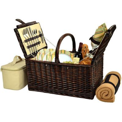 Buckingham Basket for Four with Blanket - Hamptons image 1