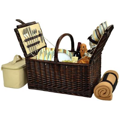 Buckingham Basket for Four with Blanket - Santa Cruz image 1