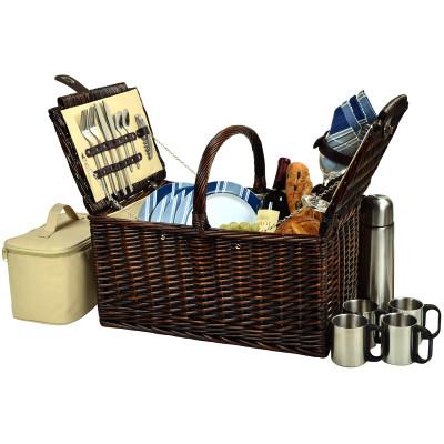 Buckingham Basket for 4 w/Coffee - Aegean image 1