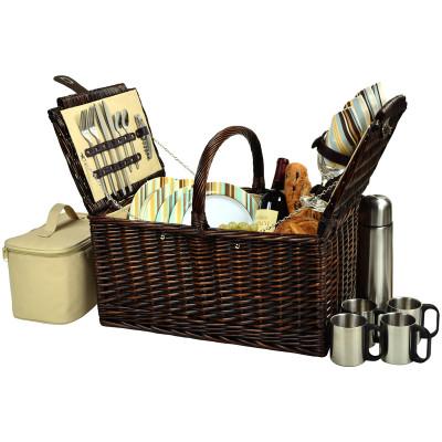 Buckingham Basket for 4 w/Coffee - Santa Cruz image 1