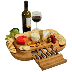 Deluxe Malvern Cheese Board Set - Bamboo image 1