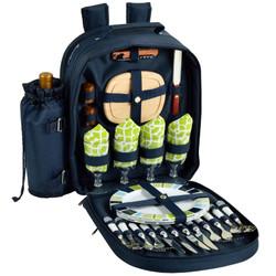 Four Person Picnic Backpack - Trellis Blue image 1