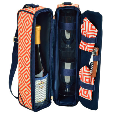 Sunset Wine carrier - Diamond Orange image 1