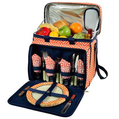 Deluxe Picnic Cooler for Four - Diamond Orange image 1