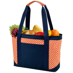 Large Insulated Cooler Tote - Diamond Orange image 1