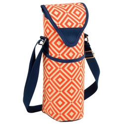 Single Bottle Cooler Tote - Diamond Orange image 1