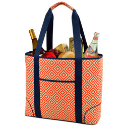 Extra Large Insulated Cooler Tote - Diamond Orange image 1