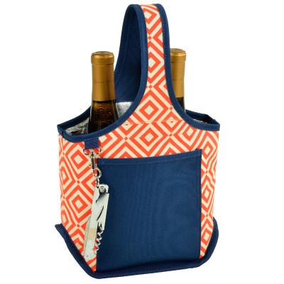 Two Bottle Carrier - Diamond Orange image 1