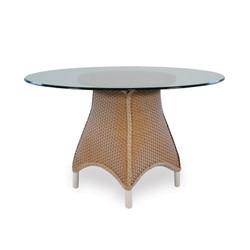"Lloyd Flanders Mandalay 48"" Round Glass Top Dining Table"