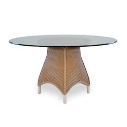 "Lloyd Flanders Mandalay 54"" Round Glass Top Dining Table"