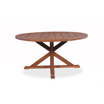 Lloyd Flanders 60 Round Pedestal Base Dining Table