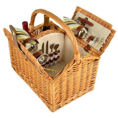 Vineyard Picnic Basket for Two - Santa Cruz image 1