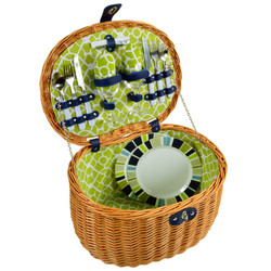 Ramble Picnic Basket for Two - Trellis Green image 1