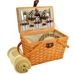 Frisco Picnic Basket For Two With Blanket - London image 1