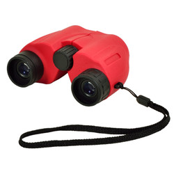 Compact Binoculars with Carry Case - Red image 1