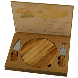 Acacia Bristol Cheese Board Set - Available Mid September - Hard Wood image 1
