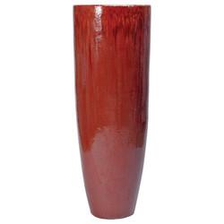 Tall Round Jar - Red
