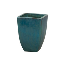 Square Planter - Teal - Medium