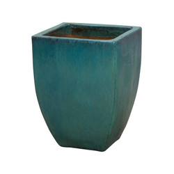 Square Planter - Teal - Large