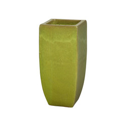 Tall Square Planter - Citron - Medium