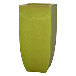 Tall Square Planter - Citron - Large