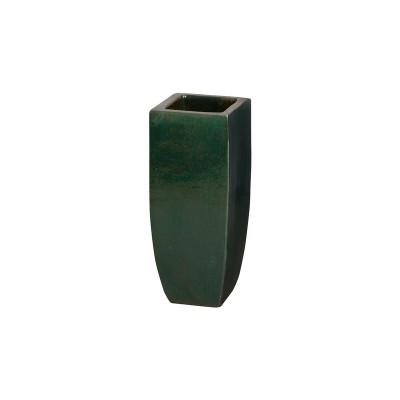 Tall Square Planter - Emerald Green - Small