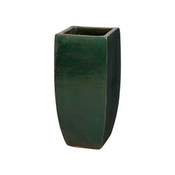 Tall Square Planter - Emerald Green - Medium