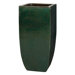 Tall Square Planter - Emerald Green - Large