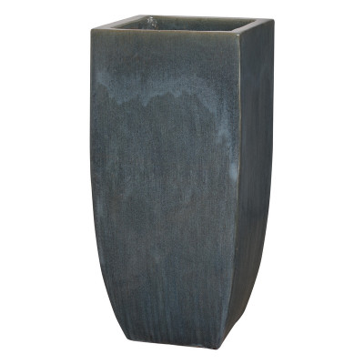 Tall Square Planter - Storm Gray - Large