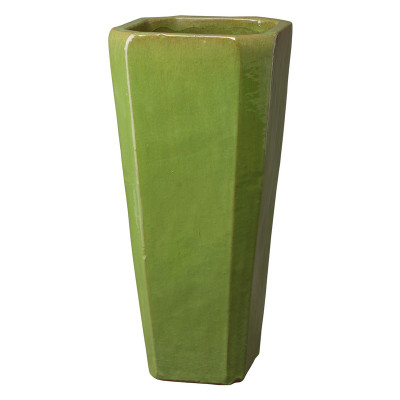 Tall Square Planter - Lime