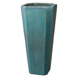 Tall Square Planter - Teal