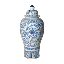 Ginger Jar - Blue/White